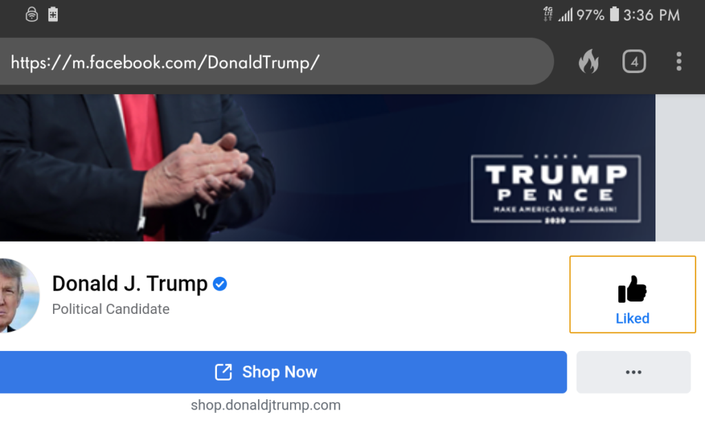 "Facebook Spreads Disinfo Calling President Trump A ""Political Candidate"""