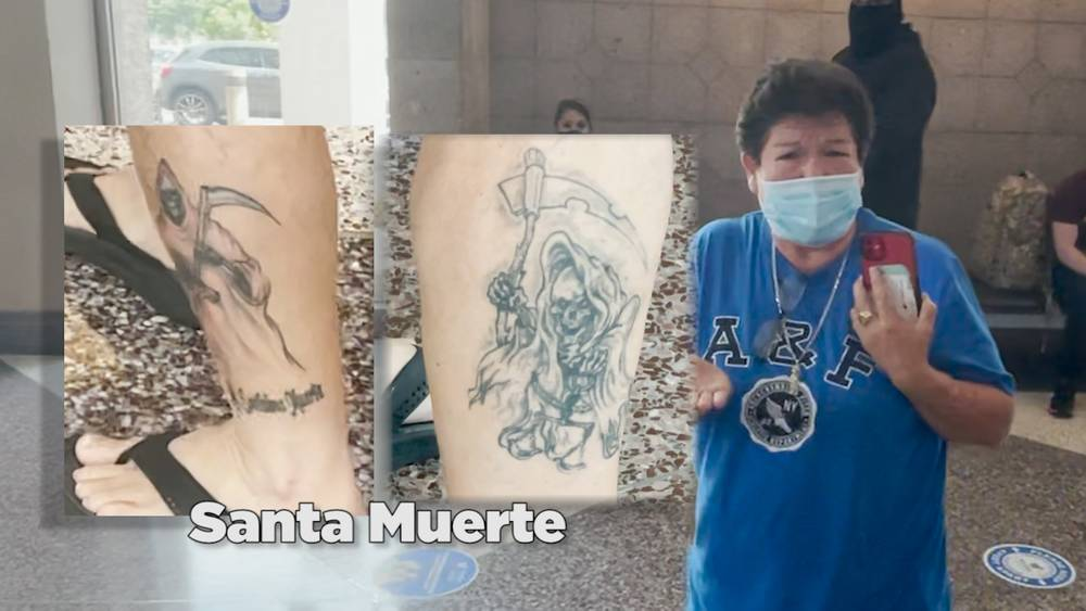 Human Smuggler With Baby and Cartel Tatts Confronted At Airport
